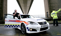 Lexus IS-F, de ideale politieauto