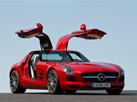 Mercedes SLS AMG crashtest video