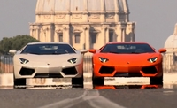 Tweetal Aventadors in Rome