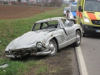 300SL Gullwing crashed door monteur